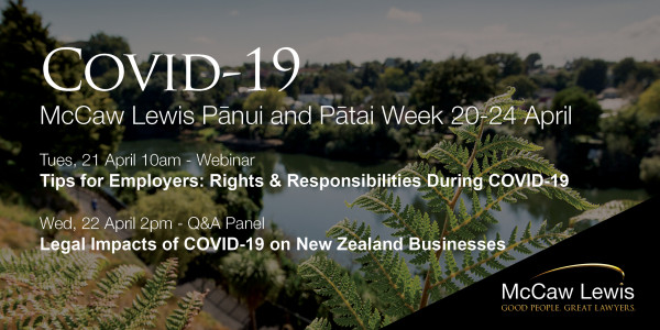 Covid 19 Panui and Patai Week 20 24 April Email Header